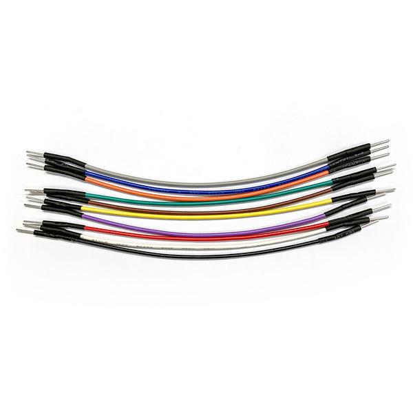 ELV hochwertiges Steckkabel Set, Stecker auf Stecker, 10 Stück in verschiedenen Farben, 100 mm