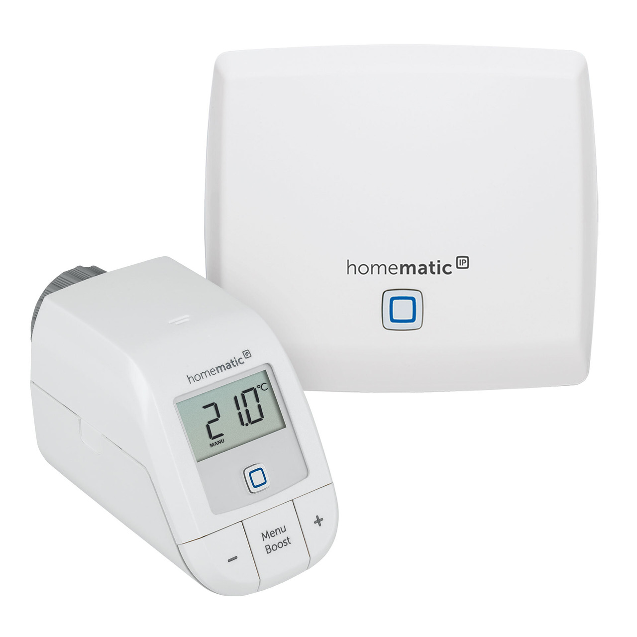 Homematic IP Smart Home Starter Set Heizen Basic mit Access Point und Heizkörperthermostat basic