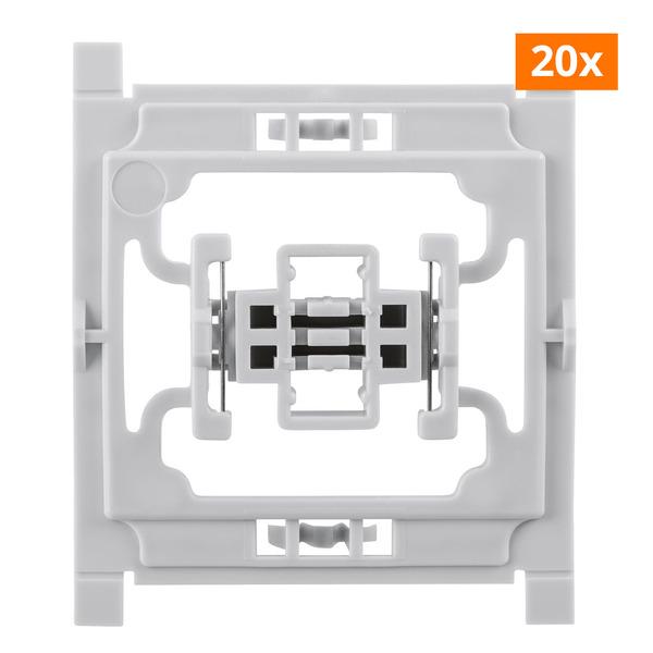 Installationsadapter für Siemens-Schalter, 20er-Set, für Smart Home / Hausautomation