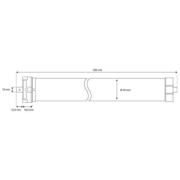 Schellenberg Funk-Rollladenmotor Premium 10 Nm Maxi, SW60