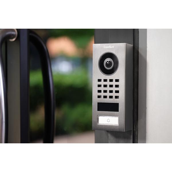 Doorbird WLAN-IP-Türsprechanlage D1101V, Edelstahl V2A, Aufputz