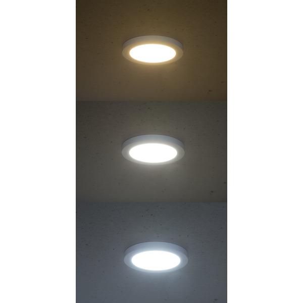 Optonica 18-W-LED-Einbau-/Aufbauleuchte 2586, 1600 lm, 3000-6000K, Einbaudurchmesser verstellbar