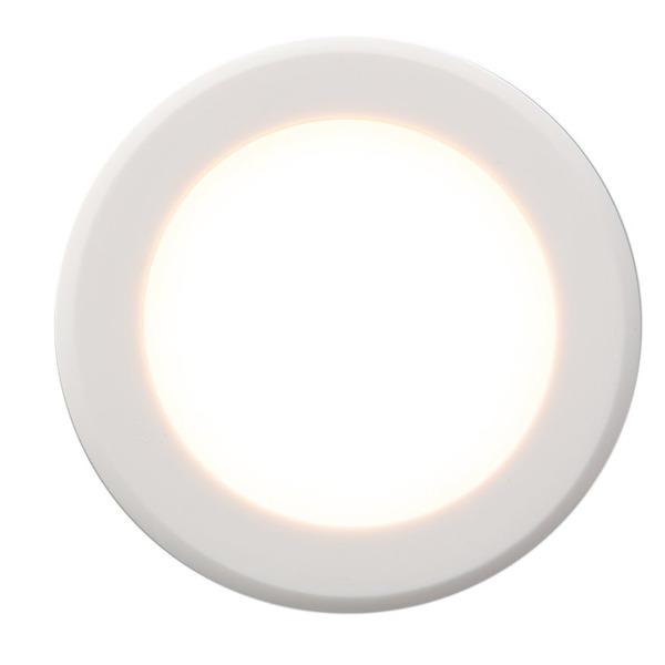 HEITRONIC 2-W-LED-Einbaustrahler Casablanca, weiß, IP44, nur 16 mm Einbautiefe