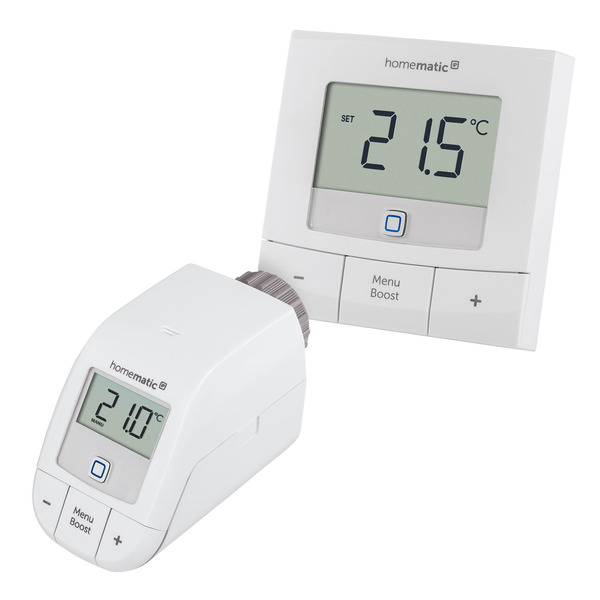 Homematic IP Smart Home Set Heizen Basic XXS mit 1x Heizkörperthermostat und 1x Wandthermostat