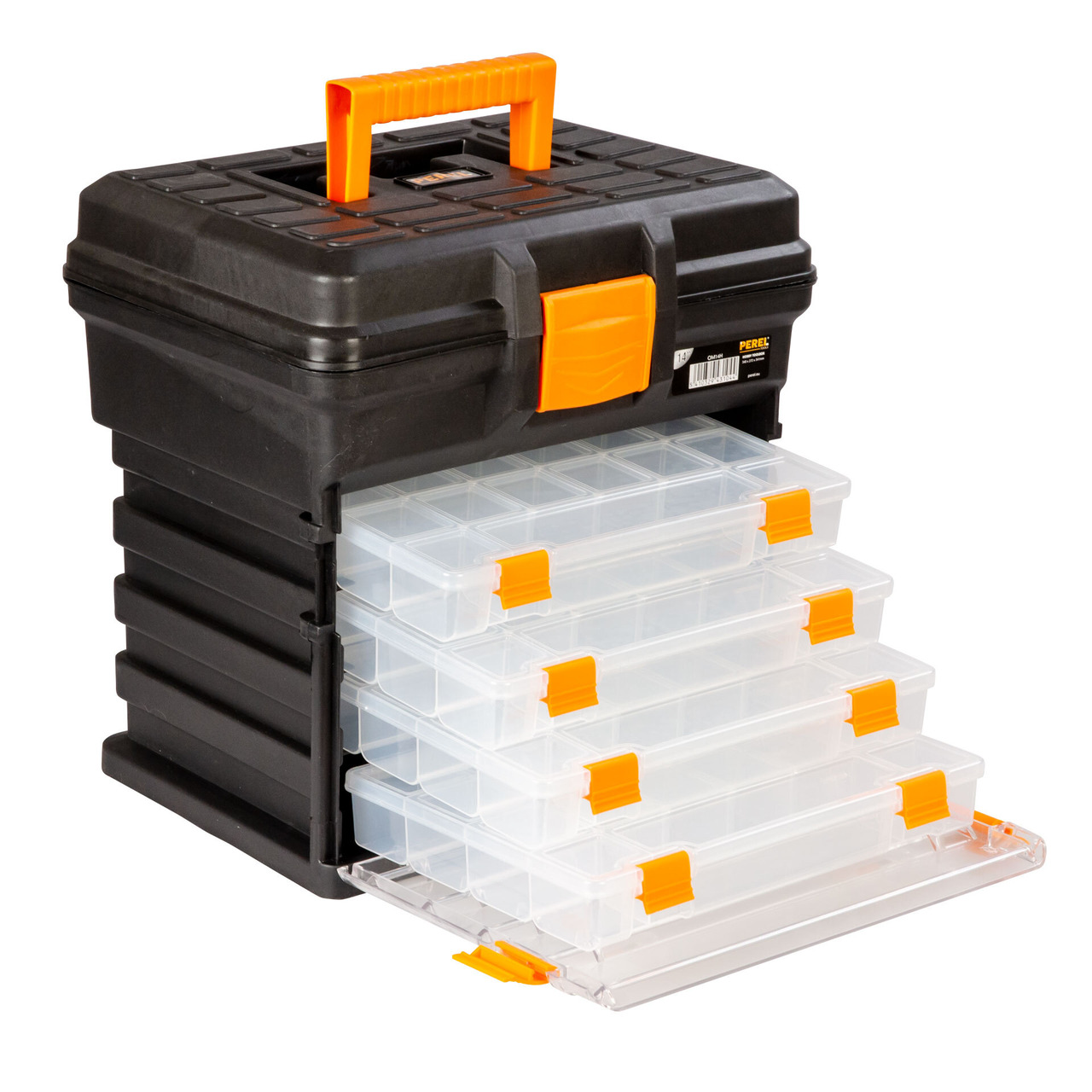 Velleman Werkzeugbox gross- mit 4 entnehmbaren Aufbewahrungsboxen