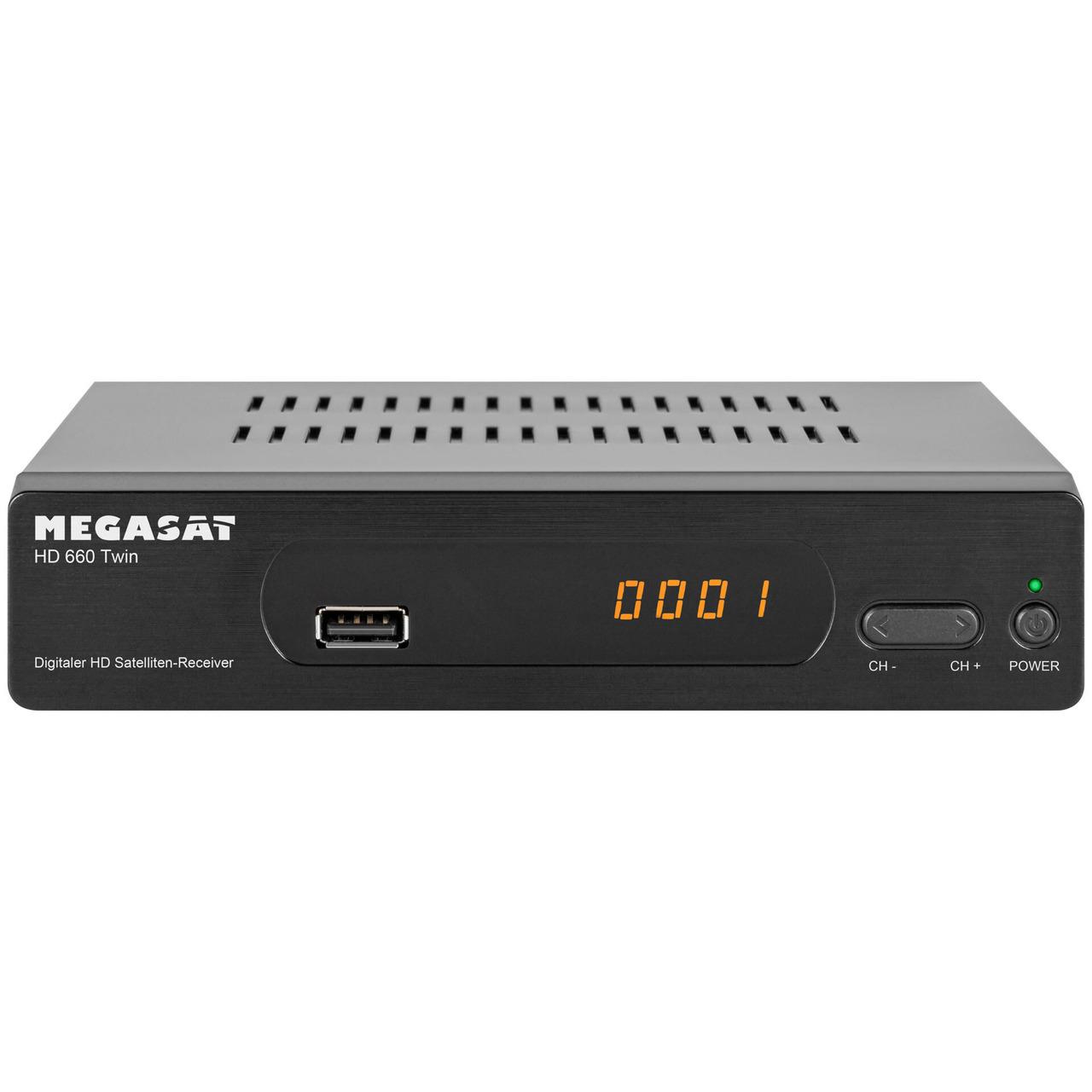 Megasat Twin-Sat-Receiver HD 660 Twin- mit USB-Aufnahmefunktion und Timeshift- 1080p (Full-HD)