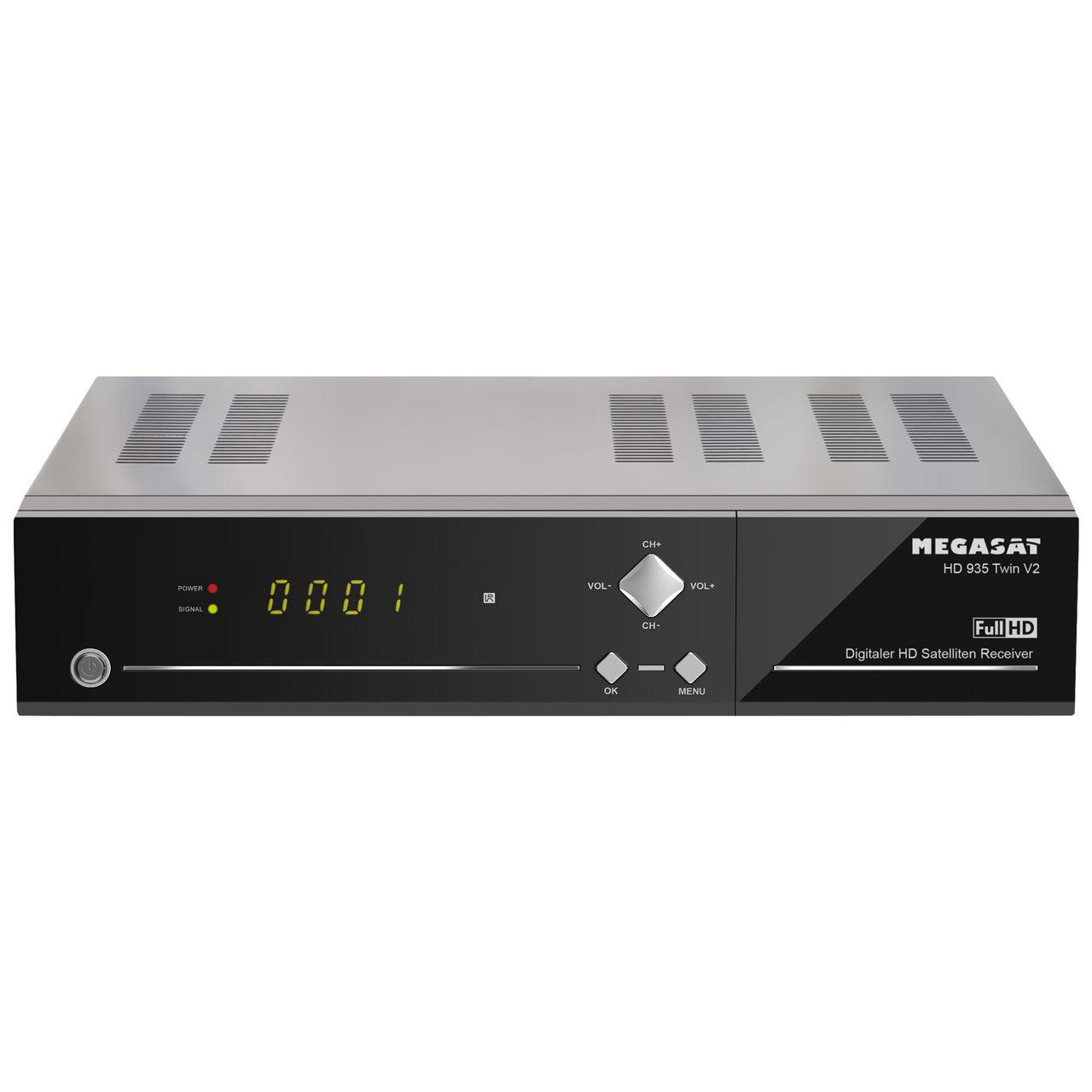 Megasat Twin-Sat-Receiver HD 935 Twin V2- mit 2-5-Festplatteneinschub- 1080p-Full-HD- App-Steuerung