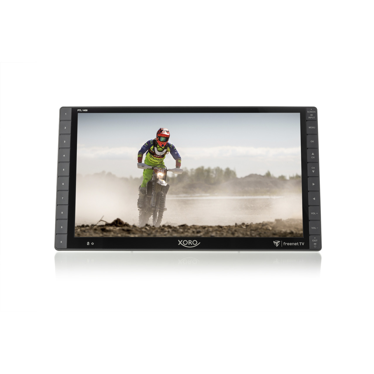 Xoro Portabler Fernseher PTL1450- DVB-T2-HD (H-265)- 35-5-cm-Full-HD-Display (14)- inkl- freenet TV