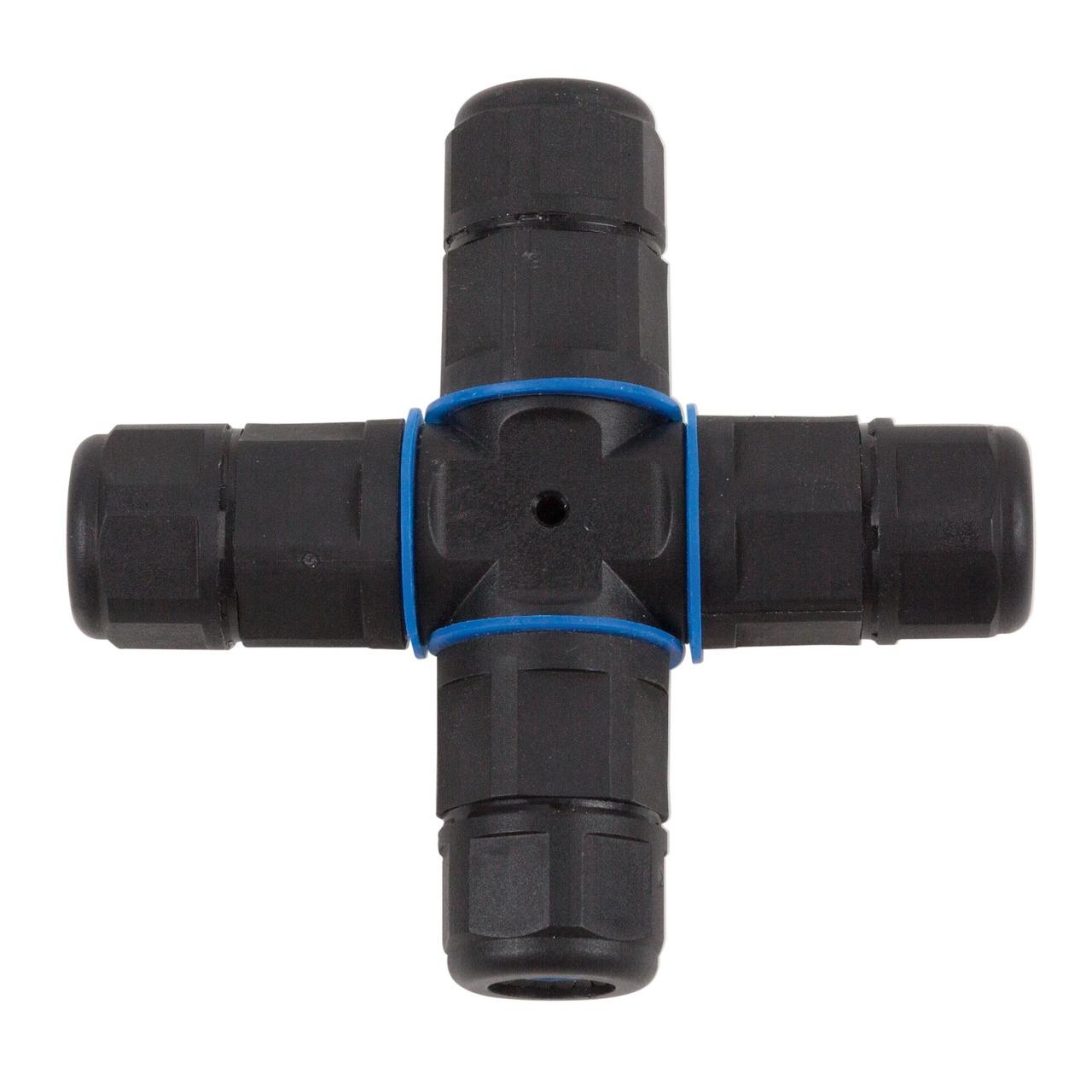 HEITRONIC Kreuz-Kabelverbinder- 3-polig- IP68- wasserdicht bis 1 m