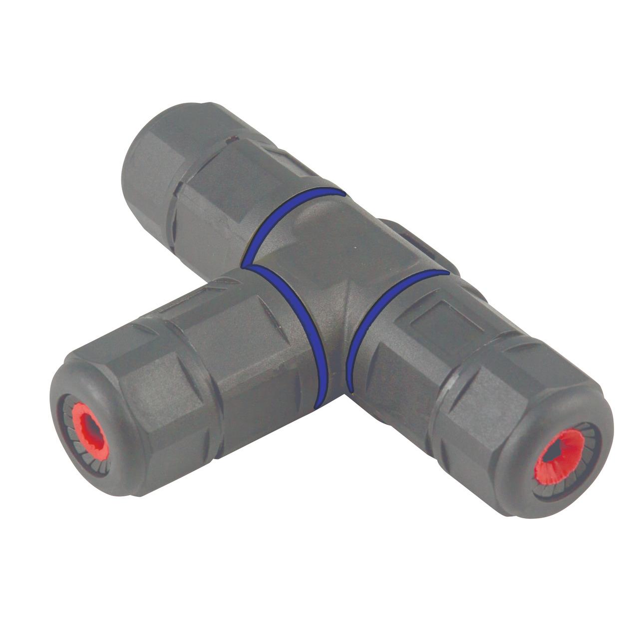 Heitronic T-Kabelverbinder- 3-polig- IP68- wasserdicht bis 1 m