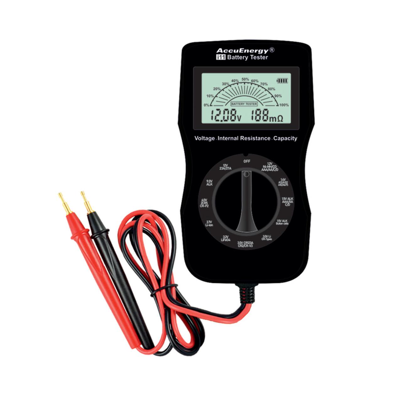Image of AccuEnergy Battery Tester i11, hochwertiges Batterie- und Akku-Messgerät