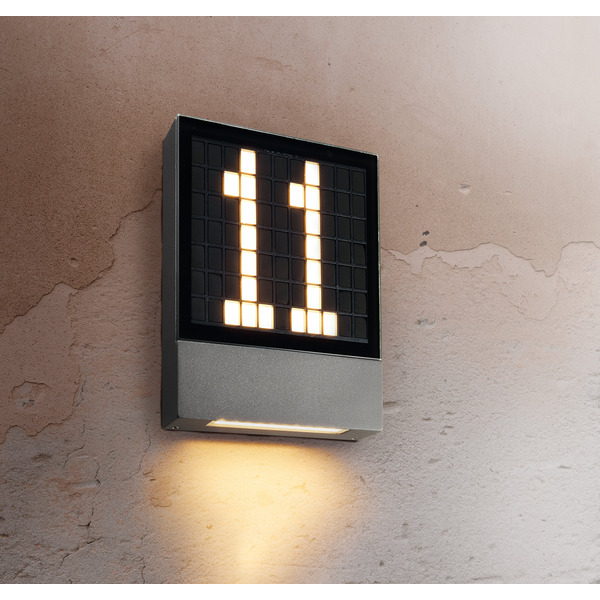 HEITRONIC 4,5-W-LED-Hausnummernleuchte Pavia, Ziffern steckbar, Aluminium-Gehäuse, 230 V AC, IP54