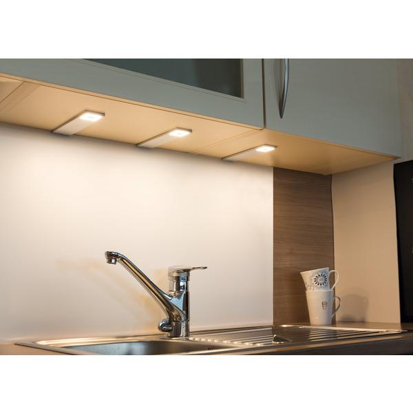 HEITRONIC 3er-Set LED-Unterbauleuchte Cortina, dimmbar, einstellbare Farbtemperatur, IP20