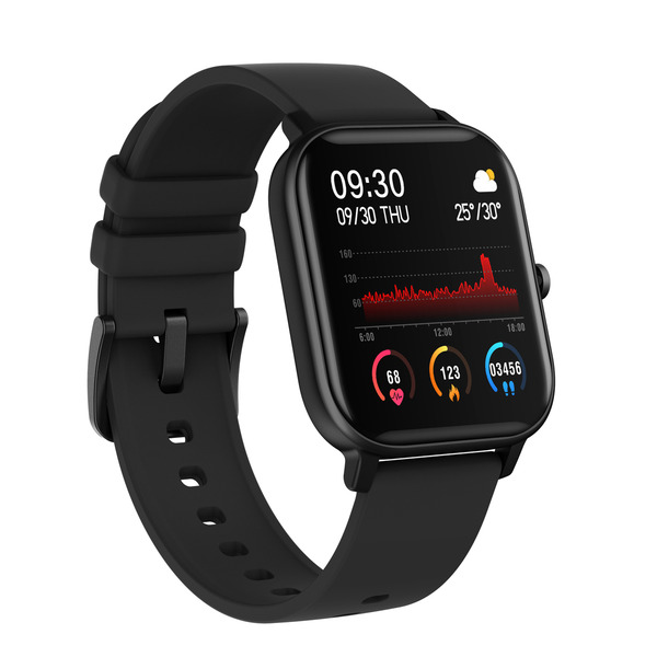 """FontaFit Smartwatch 460CH """"TILA"""", schwarz, mit Blutsauerstoffmessung und Schlafüberwachung, IP67"""