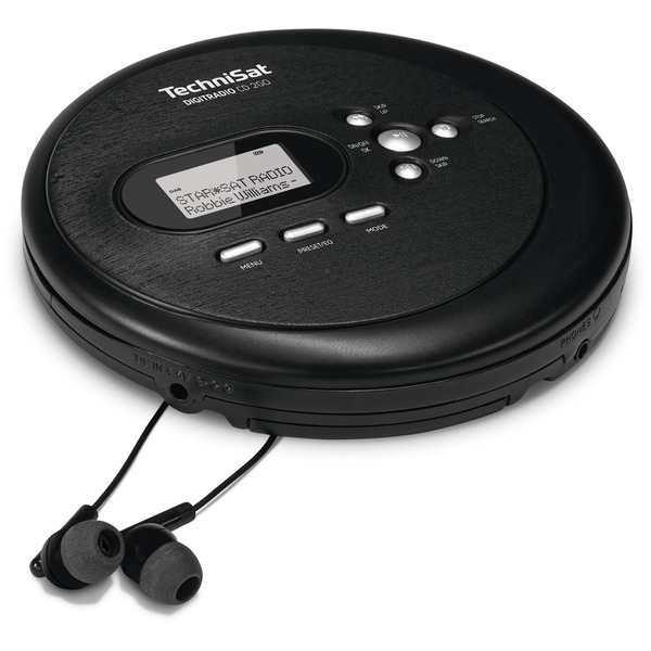 TechniSat Portabler CD-Player DIGITRADIO CD 2GO, mit DAB+ und UKW-Radio, inkl. Kopfhörer