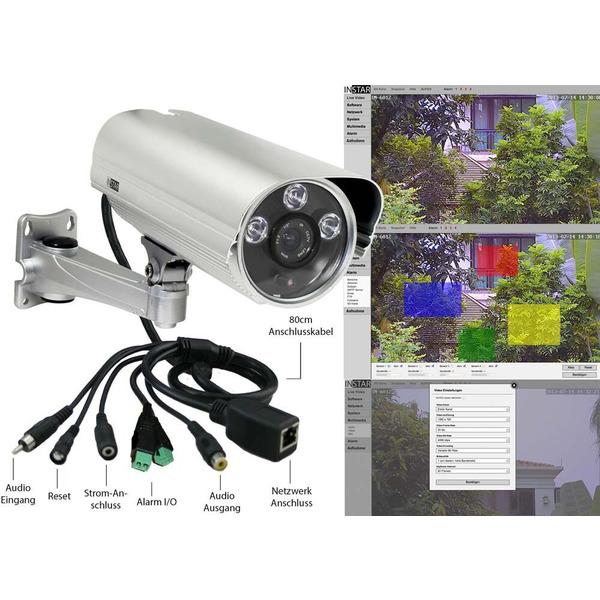 INSTAR IP-Kamera / Netzwerkkamera IN-5907HD, WLAN/LAN, silber, IP65
