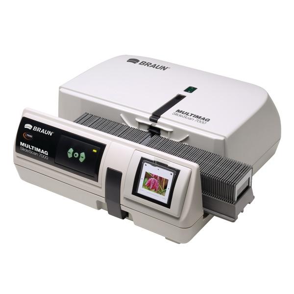 BRAUN Magazin-Diascanner MultiMag SlideScan 7000, 10.000 dpi, mit Staub- und Kratzerentfernung (IR)