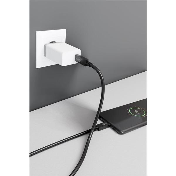 goobay USB-C PD Lade- und Synchronisationskabel 100 W, 100 cm