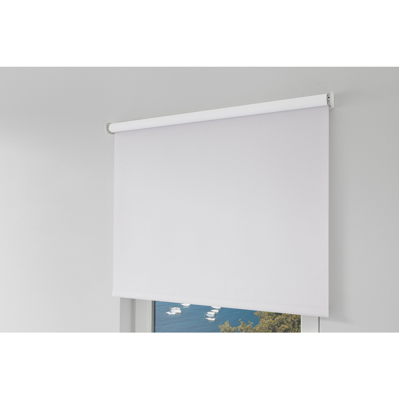 Erfal Smartcontrol Rollo by Homematic IP- 140 x 230 cm (B x H)- blickdicht abdunkelnd weiss