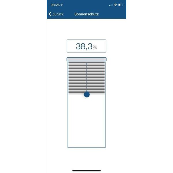 Erfal Smartcontrol Rollo by Homematic IP, 120 x 230 cm (B x H), blickdicht abdunkelnd weiß