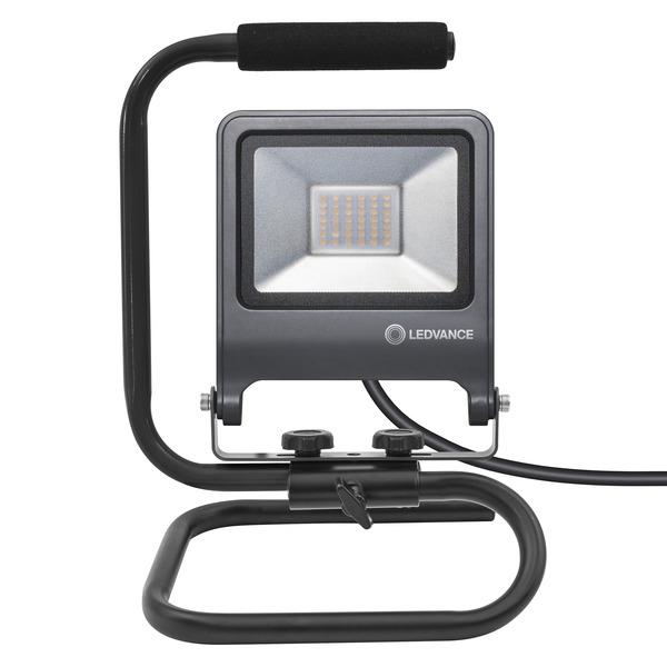 Ledvance 30-W-LED-Arbeitsleuchte Worklight S-STAND, 2700 lm, 4000 K, schwarz, IP65
