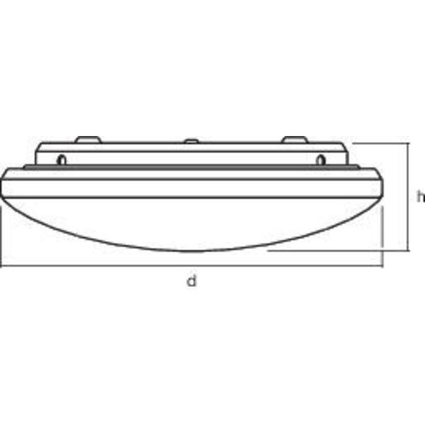Ledvance 17-W-Feuchtraum-Wand-/Deckenleuchte ORBIS, mit Tageslicht- und PIR-Bewegungssensor, IP44
