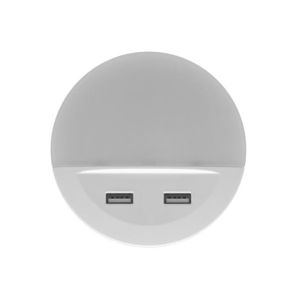 Ledvance Sockel-Nachtlicht LUNETTA USB, mit USB-Ausgängen, Tag-/Nachtsensor, IP20