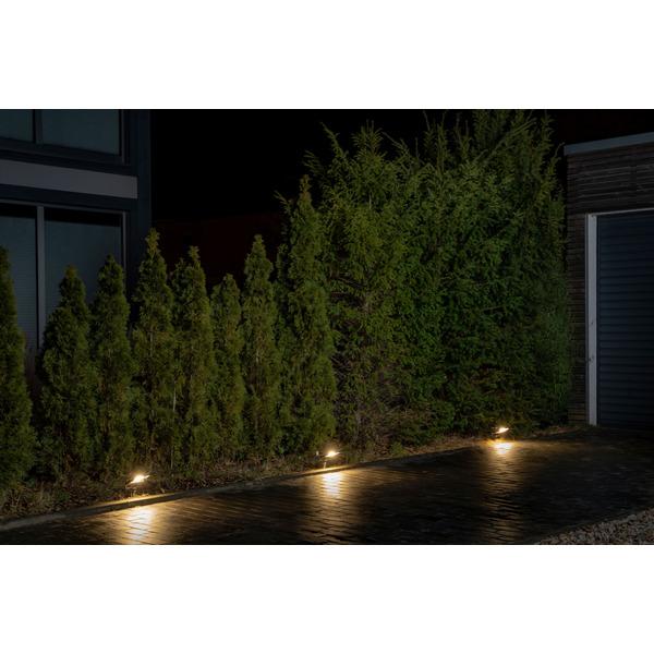 Ledvance 10-W-LED-Außen-Fluterleuchte ENDURA GARDEN FLOOD, mit Erdspieß, Plug-&-Play, IP65