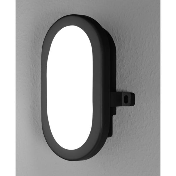 Ledvance 5,5-W-Wand-/Deckenleuchte BULKHEAD, schwarz, 450 lm, kaltweiß, IP54