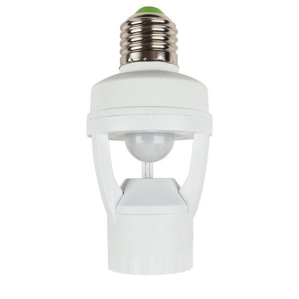 HEITRONIC 360°-PIR-Bewegungsmelder für Leuchten mit E27-Fassung, bis zu 60 W, IP20