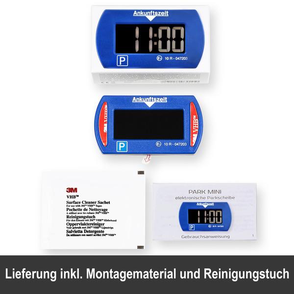 Needit 2er-Spar-Set Digitale Parkscheibe PARK MINI, automatische Parkzeiteinstellung, blau