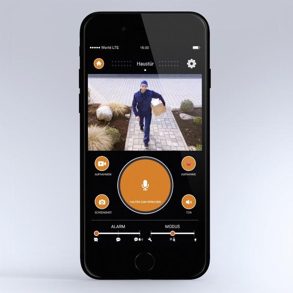 Steinel 13,5-W-LED-Wand-/Kameraleuchte L 620 CAM, Full-HD Kamera (1080p), App-Zugriff