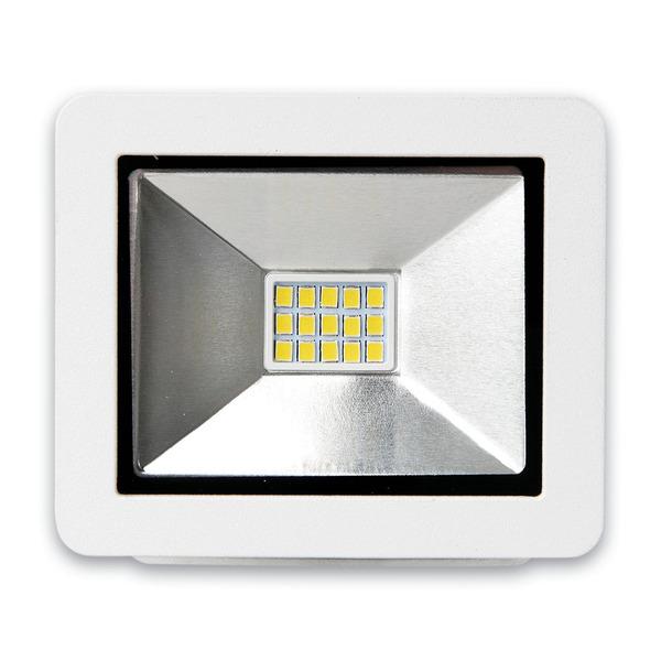 LEDmaxx 10-W-LED-Flutlichtstrahler im kompakten Design, warmweiß, IP65, 700 lm