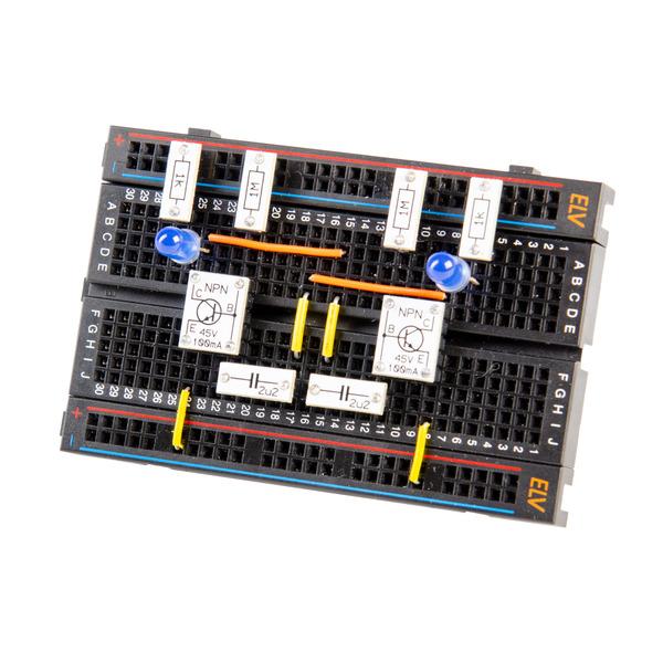 ELV Steckplatine/Breadboard mit 400 Kontakten, schwarze ELV-Version