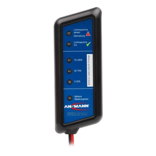 Ansmann Kfz-Batterie-Testgerät Power Check, mit Anschlussklemmen