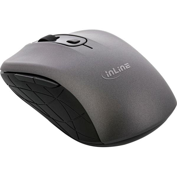 InLine 3-in-1 Maus, Bluetooth, doppelte 2.4 GHz Funkverbindung, optischer Sensor