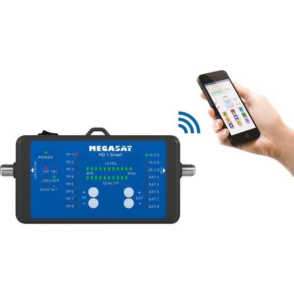 Megasat Satfinder / Sat-Messgerät HD 1 Smart, DVB-S/S2, mit Smartphone-Anbindung, inkl. Powerbank