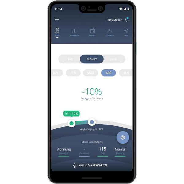 powerfox WLAN-Stromzählerausleser poweropti PA201901, inkl. Smartphone-App