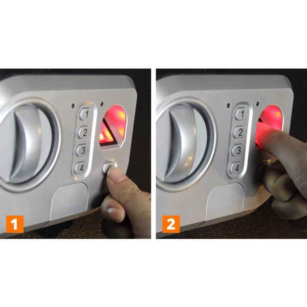 Megasat Fingerprint-Sicherheitstresor ST-50 FP, 42,5 l Volumen, mit Code-Eingabe und Notschlüssel