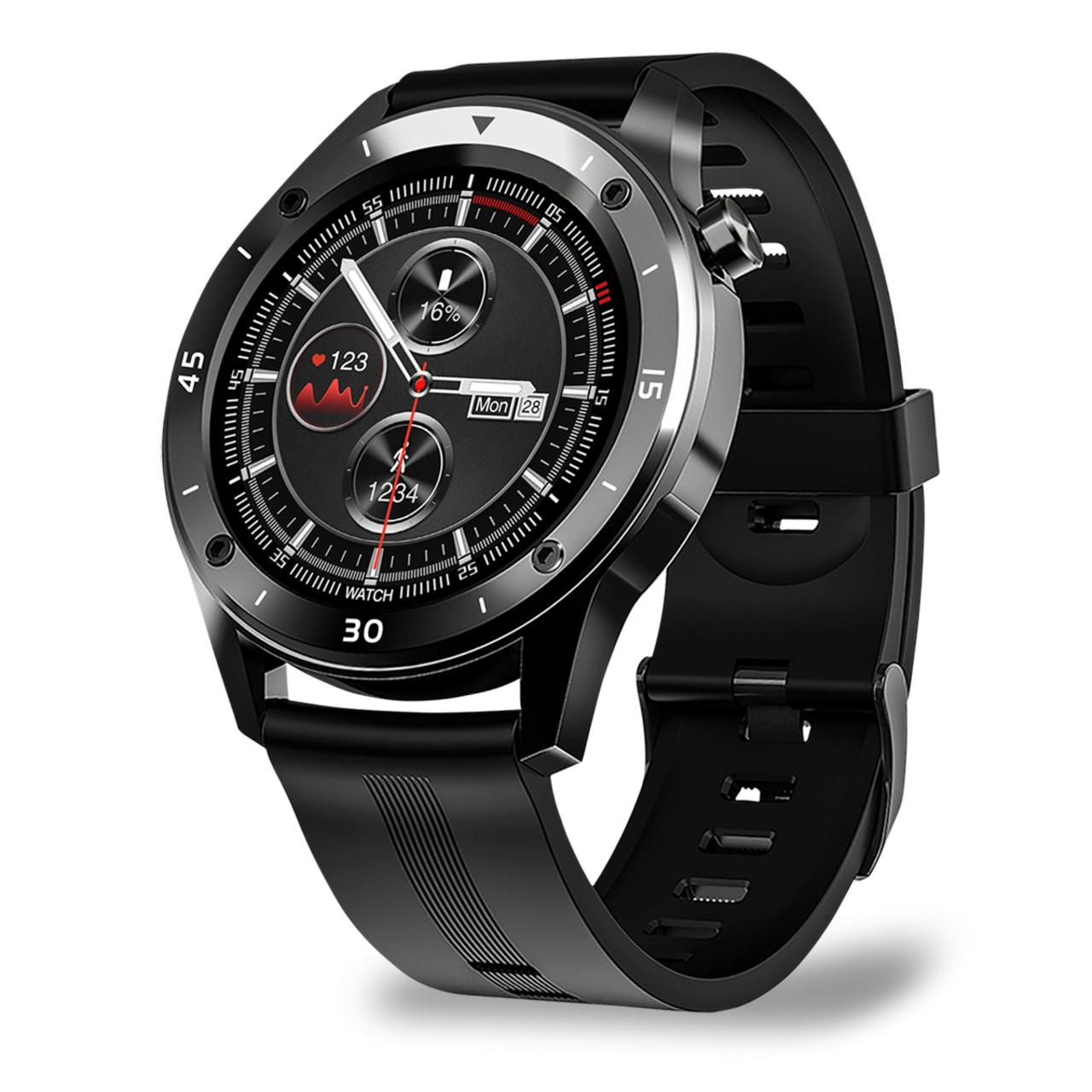 FontaFit Smartwatch 500CH TESO- schwarz- mit Blutsauerstoffmessung und Schlafüberwachung- IP67