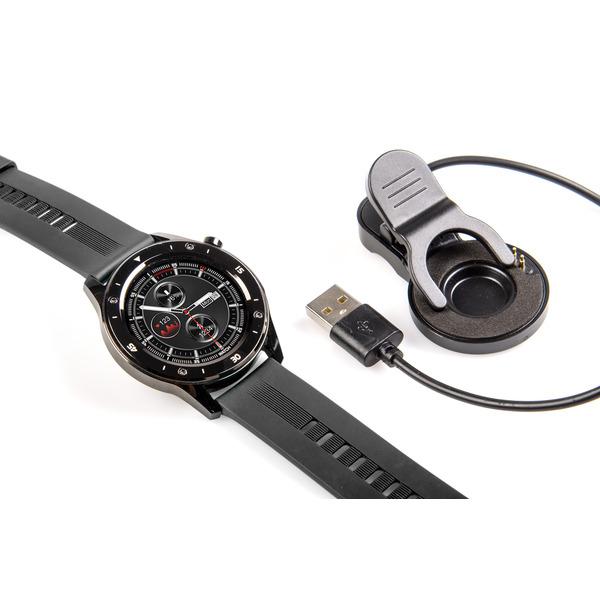 """FontaFit Smartwatch 500CH """"TESO"""", schwarz, mit Blutsauerstoffmessung und Schlafüberwachung, IP67"""