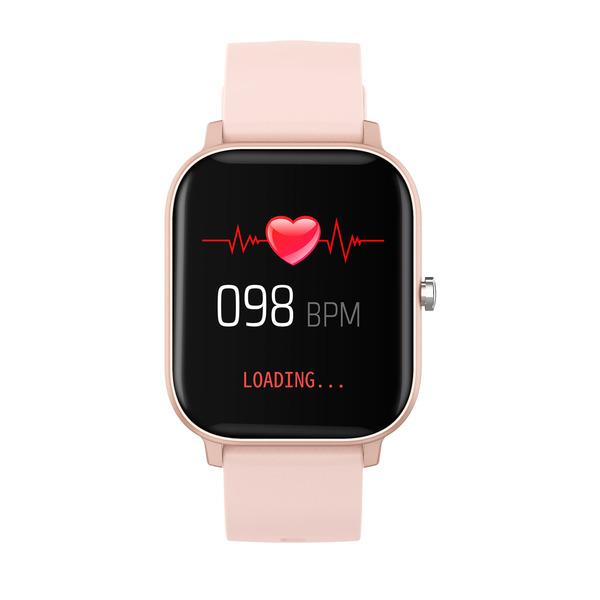 """FontaFit Smartwatch 460CH """"TILA"""", rosé, mit Blutsauerstoffmessung und Schlafüberwachung, IP67"""