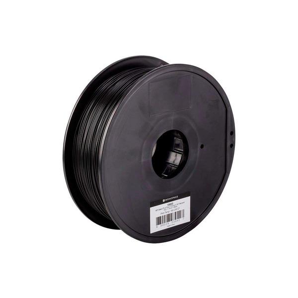 Monoprice 3D-Drucker Filament PLA+, schwarz, 1,75 mm, 1 kg