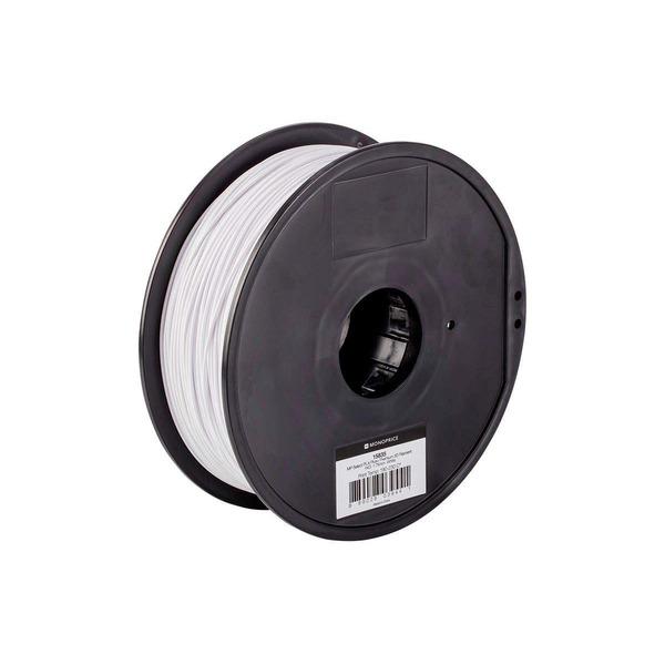 Monoprice 3D-Drucker Filament PLA+, weiß, 1,75 mm, 1 kg