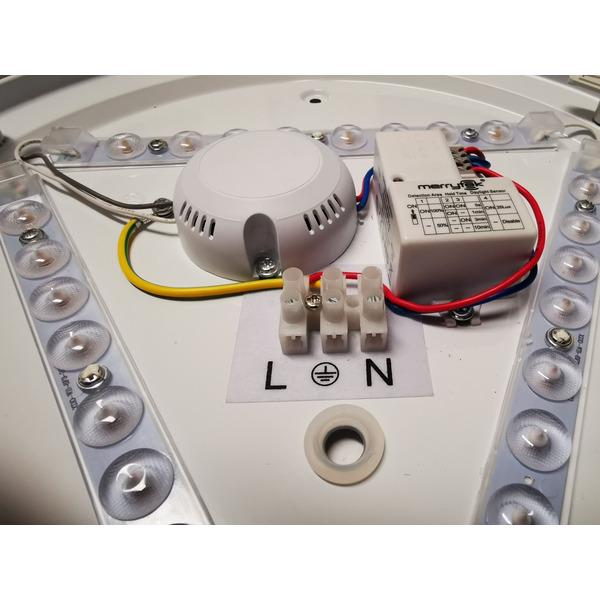 Blulaxa 20-W-LED-Wand-/Deckenleuchte Aina-L mit HF-Sensor, 1300 lm, neutralweiß (4000 K)