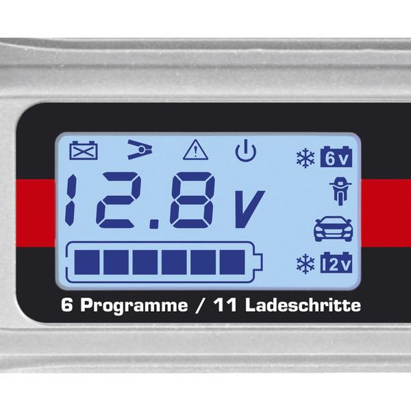 Dino KRAFTPAKET Kfz-Batterieladegerät 6V/12V, 3,8A, für Autos und Motorräder, mit Batterietester