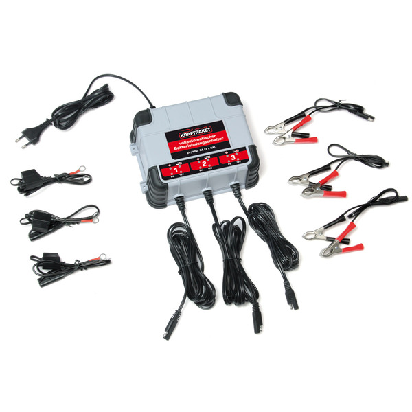 Dino KRAFTPAKET Kfz-Batterie-Erhaltungsladegerät 6V/12V 3x 2A