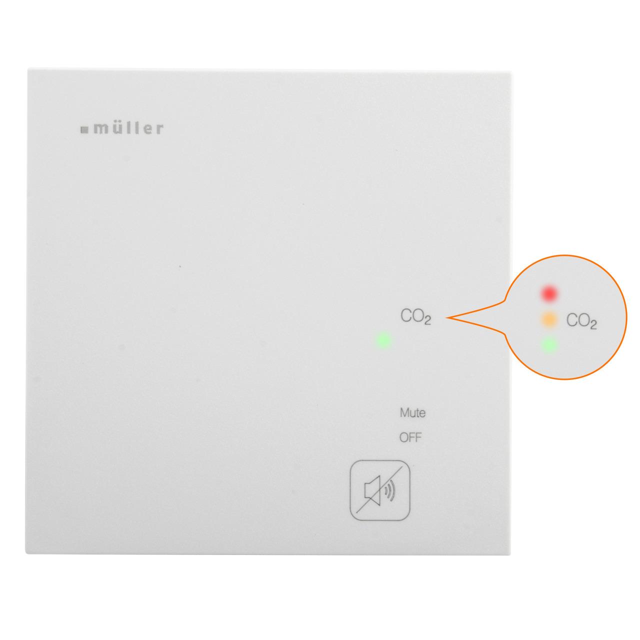 Hugo Müller Luftgütesensor-CO2-Ampel GS 42-01 pro mit 3 Open-Collector-Ausgängen