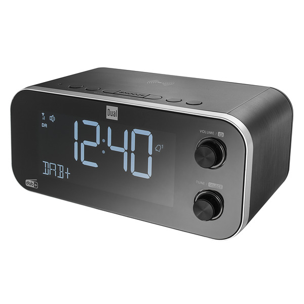 Dual Digitales Uhrenradio DAB CR 30 Black Bird, UKW/DAB+, Induktionsladefunktion