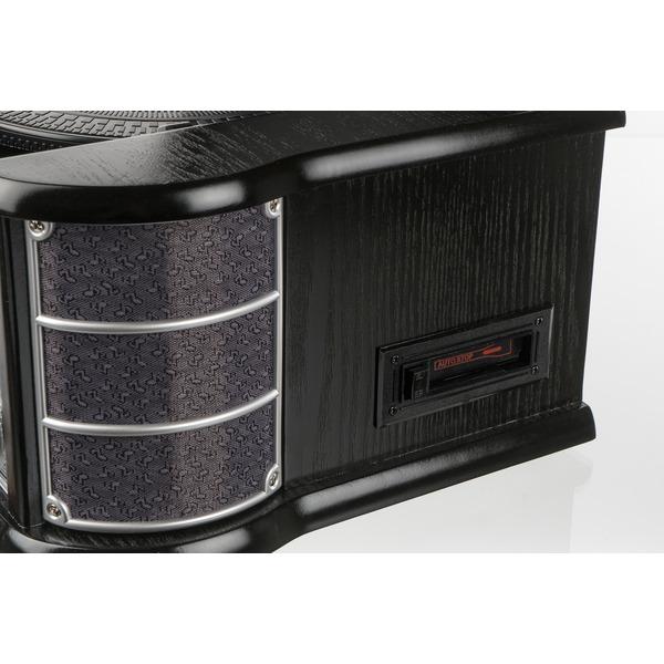 Dual Nostalgie-Stereo-Musikcenter NR 4, UKW-Radio, USB, CD-Player, Kassettenlaufwerk, schwarz